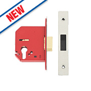 "Union Euro Profile Mortice Sashlock Stainless Steel 3"" / 81mm"