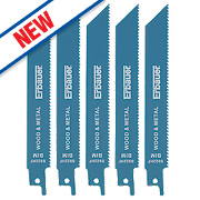 Erbauer S922HF Demolition Reciprocating Saw Blade 150mm 10tpi Pack of 5