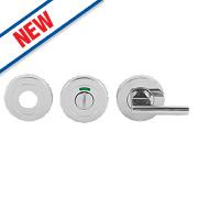 Eurospec Bathroom Thumbturn & Release Polished Stainless Steel 52mm