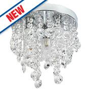 Spa Cygnus 3-Light Bathroom Ceiling Light Chrome G9 25W