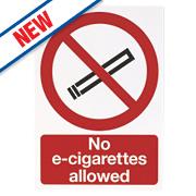 """""""No E-Cigarettes Allowed"""" Sign 210 x 180mm"""