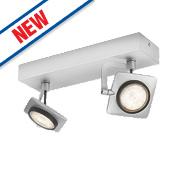 Philips Millennium 2-Light LED Ceiling Spotlight Aluminium