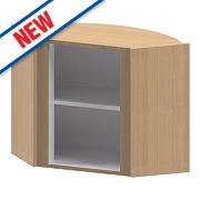 Oak Kitchen L Corner Wall Cabinet 625 x 625 x 738mm