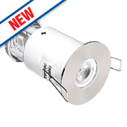 Aurora Fire Rated Fixed LED Downlight IP65 Satin Nickel 4.9W