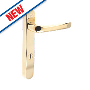 Mila High Security Type A Door Handle Pack Gold PVD
