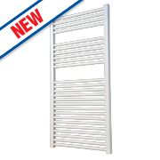 Flomasta Flat Ladder Towel Radiator White 1200 x 600mm 637W 2174Btu