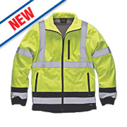 "Dickies Hi-Vis Two-Tone Soft Shell Jacket Yellow / Navy Large 46"" Chest"