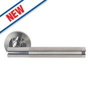 Eurospec Philadelphia Lever on Rose Door Handles Pair Satin Stainless Steel