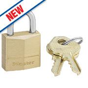 Master Lock Solid Brass Padlock 20mm