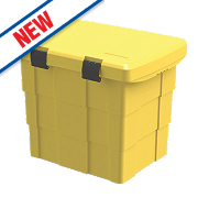 Firechief Grit / Salt Storage Bin 10kg Yellow