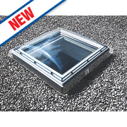 Velux Fixed Flat Roof Window & Dome Clear 600 x 600mm