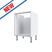 White Pan Drawer Base Cabinet 600 x 570 x 880mm