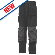 "Snickers Rip-Stop Pro-Kevlar Floorlayer Trousers Black / Grey 35"" W 30"" L"