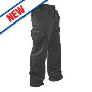 "Lee Cooper Classic Cargo Trousers Black 34"" W 31"" L"
