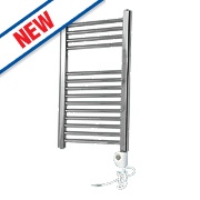 Flomasta Flat Thermostatic Towel Radiator Chrome 700 x 400mm 182W 623Btu