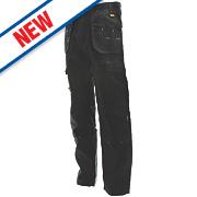 """DeWalt Pro Tradesman Work Trousers Black 36"""" W 29"""" L"""