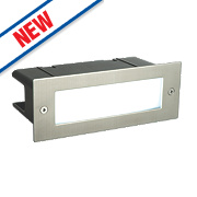 Saxby Seina Recessed LED Brick Light Brushed Stainless Steel 4.5W