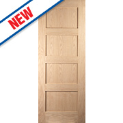 Jeld-Wen Shaker 4-Panel Interior Fire Door Oak Veneer 2040 x 726mm