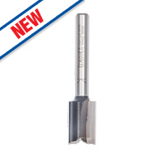 """Trend 2-Flute Straight Router Cutter ¼"""" Shank 12.7 x 19mm"""