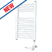 Flomasta Flat Electric Towel Radiator White 700 x 400mm 231W 788Btu