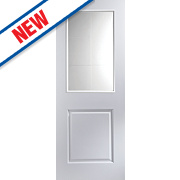 Jeld-Wen Cambridge 2-Panel Internal Glazed Door Primed 1981 x 762mm
