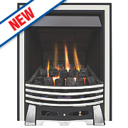 Focal Point Elysee Chrome Rotary Control Gas Inset Multiflue Fire