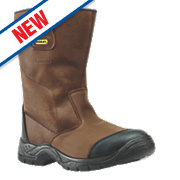 Stanley Ashland Waterproof Rigger Safety Boots Brown Size 7