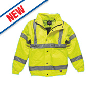 "Dickies Hi-Vis Bomber Jacket Saturn Yellow XXXX Large 62"" Chest"
