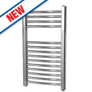 Flomasta Curved Electric Towel Radiator Chrome 700 x 400mm 184W 627Btu