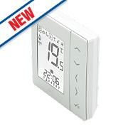 JG Speedfit JGSTATW1W Aura 4-in-1 Wireless Thermostat Battery Powered White
