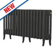 Arroll Neo-Classic 4-Column Cast Iron Radiator Black Primer 460 x 874mm