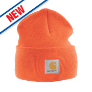 Carhartt A18 Beanie Hat Orange