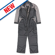 "Hyena Tundra Teflon-Coated Coverall Black/Grey Medium 49"" Chest 31"" L"