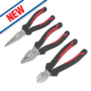 Forge Steel General Purpose Pliers Set 3 Pieces