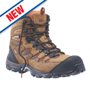 Hyena Eiger Safety Boots Brown Size 12