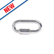 Sterling Steel Security Chain Quick Links 38m x 4mm Pack of 2