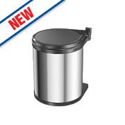 Hailo Compact Inner Kitchen Waste Bin Stainless Steel 15Ltr