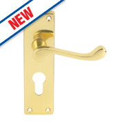 Carlisle Brass Victorian Scroll Lever Door Handles Type A Pack Polished Brass