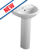 Ideal Standard Della Full Pedestal Basin 2 Tap Holes 540mm