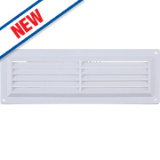 Map Vent Gas Louvre Vent White 76 x 229mm