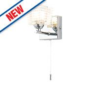 Spa Aquila Bathroom Wall Light w/ Pull Cord Chrome G9 28W