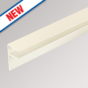 Corotherm PVC Side Flashing White 2 Pack