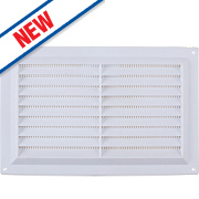 Map Vent Louvre Vent with Flyscreen White 152 x 229mm