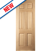 Jeld-Wen Oregon 6-Panel Interior Door Oak Veneer 1981 x 610mm