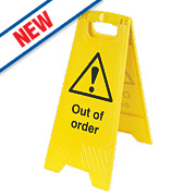 Caution Out Of Order A-Frame Safety Sign 600 x 290mm