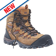 Hyena Eiger Comfort Safety Boots Brown Size 11