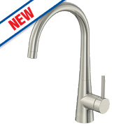 Watersmith Milan Monobloc Mixer Kitchen Tap Silk Steel