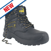 Puma Borneo Mid-Safety Boots Black Size 10