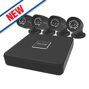 QVIS KIT 006 8-Channel CCTV Digital Video Recorder & 4 Camera Kit