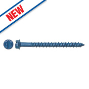 DeWalt Hex Head Tapper+ Concrete Screw 6.3 x 32mm Blue Pk100